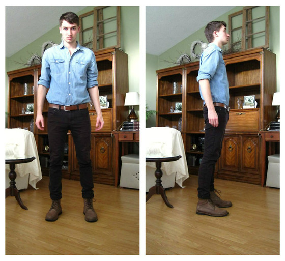 Jordan Melnychuk - Gap Button Up, Dbg Jeans, Timberland Boots - Michael Cassette - Ghost in the Machine