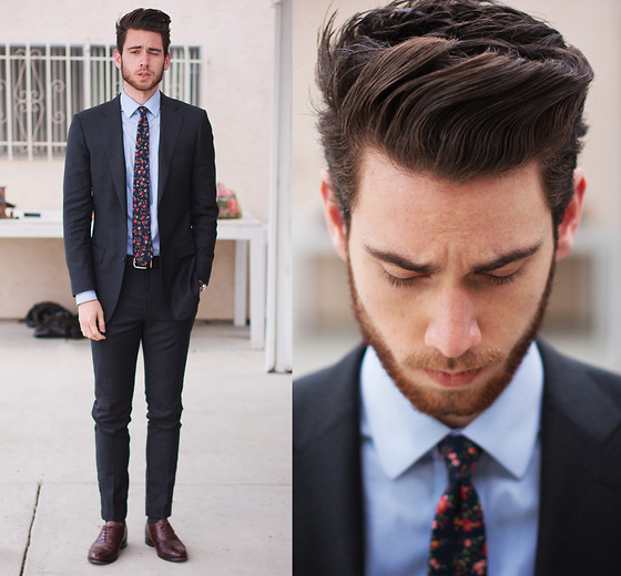 Edward Honaker - Suit Suppply, Brooks Brothers Shirt, General Knot Co Tie, Bostonian Shoes (Similar) - Heyyyyy