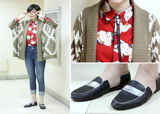 Bea Benedicto - Sumo Wrestler Shirt, Cutout Loafers - Anime Dork