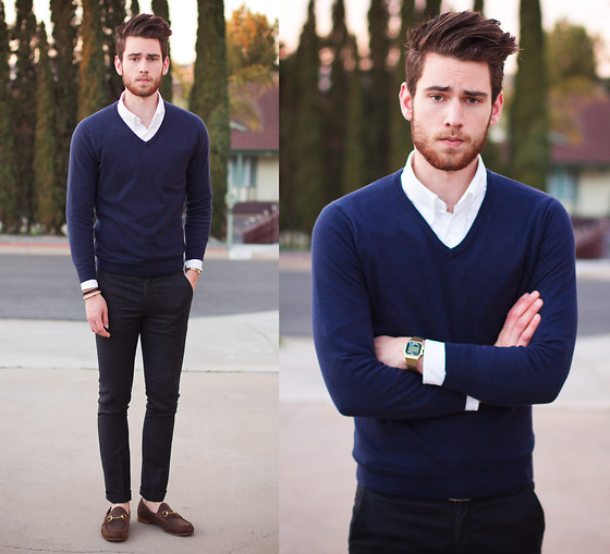 Edward Honaker - J. Crew Sweater, Paul Smith Pants, Gucci Shoes - 13th floor