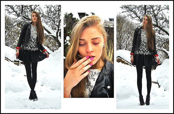 Ane Miu - Zara Shirt, Cubus Skirt - SNOW