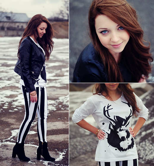 Ariadna Majewska Chic Wish Dark Green Wool Coat With Fur