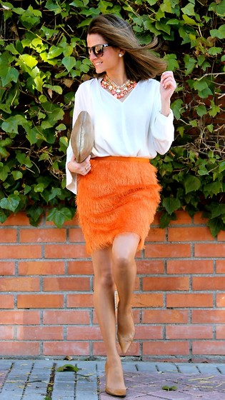 Silvia Garcia Blanco - Mango Sunglasses, Teria Yabar Necklace, Zara Blouse, Accessorize Bag, Suite 210 Skirt, Calzados Gredos Shoes - Looking forward to Spring / Con ganas de Primavera