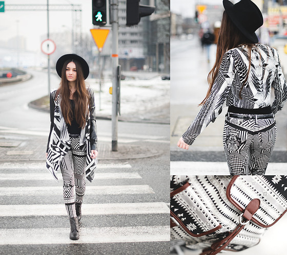 Mirella Szymoniak - Staff By Maff Jacket, Stylepit Jeans, Seeberger Hat, Erbs&Bjerke Backpack, H&M Blouse, H&M Blouse, Vintage Belt, Czasnabuty Shoes - Black or white?