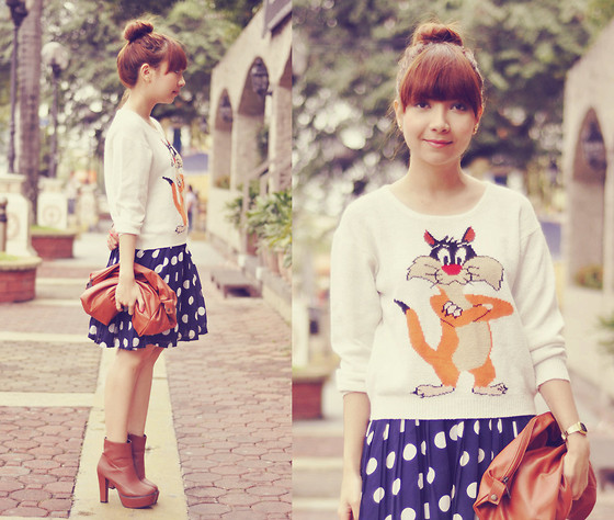 Bestie K - Sweater, Skirt, Boots - Won't let you talk me down