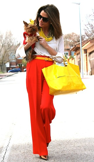 Silvia Garcia Blanco - Mango Sunglasses, Teria Yabar Necklace, Zara Blouse, Zara Belt, H&M Pants, Calzados Gredos Shoes - The Spanish Girls / Las Chicas Españolas