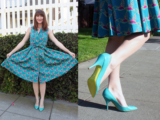 Jamie Shields - Lesley Evers Dress, Paul Smith Shoes - Bird is the word