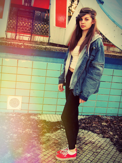 Kathrin S - Vintage Denim Jacket, Velvet Leggings - It's human nature to want what you can't have
