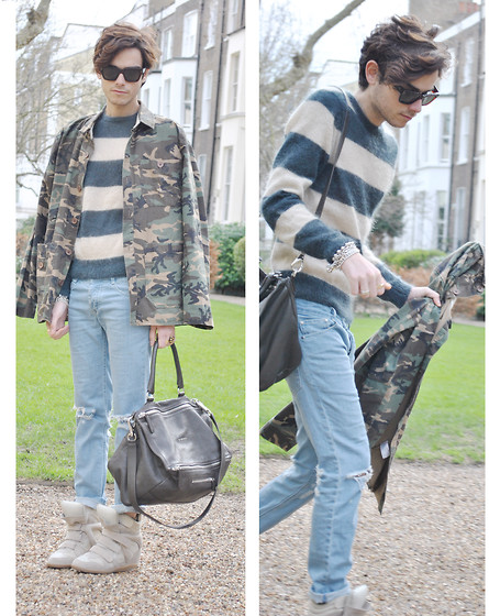 Gianni Sarracino - Givenchy Pandora Bag, Céline Sunglasses - Stripes and Camou