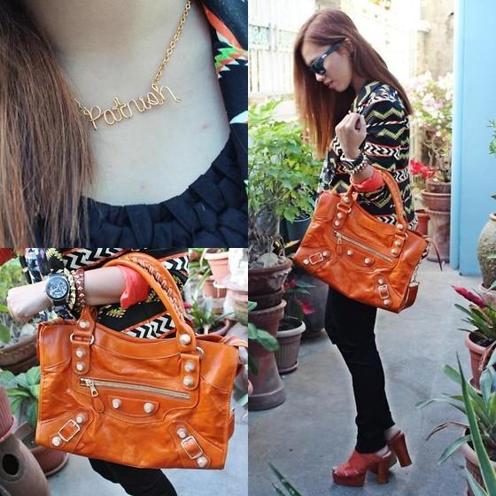 balenciaga bag orange