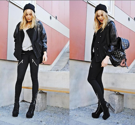 Frida Johnson - Bag, Boots, Jacket, Gina Tricot Pants - FRIDAFYNDIGT @ INSTAGRAM