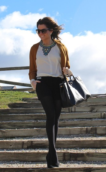 Silvia Garcia Blanco - Mango Sunglasses, Suite 210 Necklace, Zara Jacket, Prada Bag, Forever 21 Shorts, Pilar Burgos Shoes - I love jackets / Me encantan las Chaquetas