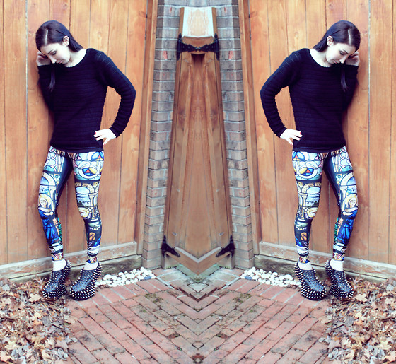 Jordyn Ariel - Jeffrey Campbell Black Shadow Stud, Black Milk Clothing Cathedral Leggings - ♡Heaven Is A Place On Earth With You♡