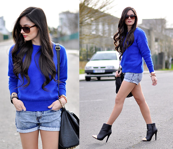 Alba . - Choies Sweater, Asos Boots, Vj Style Bag - Blue...