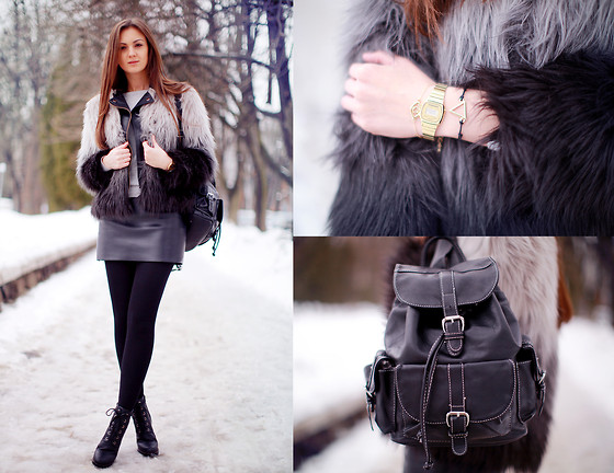 Nika H - H&M Coat, Vjstyle Backpack - Back to Basics