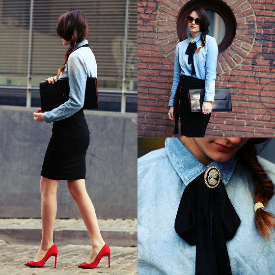 Ruxandra Ioana - Zara Denim Shirt - The Bureau.