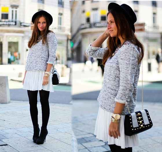 Melanie Winter - Promod Pull/Sweater, Chic Wish Skirt, H&M Bag - GOOD TO BE BACK