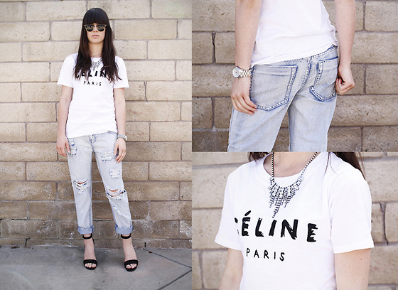 Casey David - Sheinside Shirt, One Teaspoon Jeans, Nicholas Heels - Celine Paris {on the blog!}