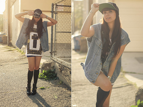 Chanelle L.™ - Quartz Energy Cuff, Vintage Jean Vest - Civil Hearts