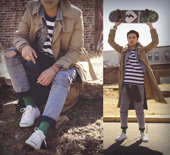 Denny Balmaceda - Converse Jack Purcell's, Uniqlo Top - Inspired by the film Say Anything...