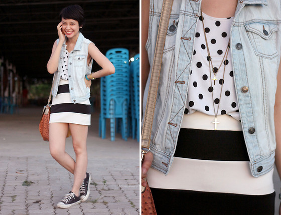 Bea Benedicto - Divi Polka Dot Sando, Divi Striped Skirt - Spots and Stripes