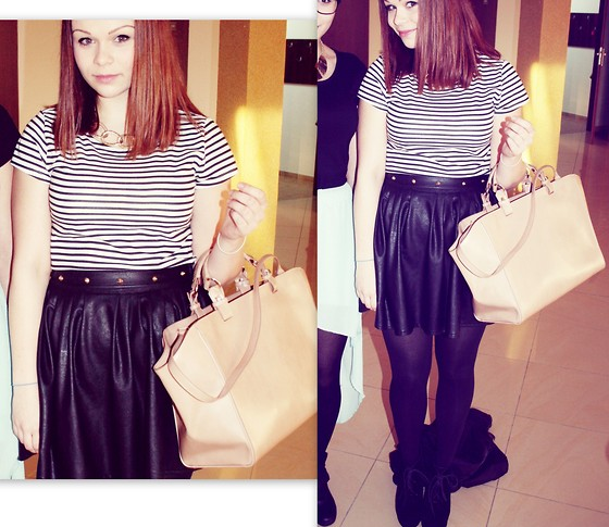 Olivia Dembowska - Iloko.Pl Neckles, Sinsaj T Shirt, Noname Skirt, Deezee.Pl Shoes, Zara Bag Shopper - Brithday party quick look