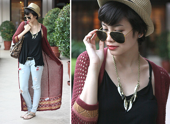 Bea Benedicto - Forever 21 Sweater, Bench Hat - Silent Fight
