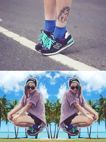 Ivy Robinson - New Balance Trainers, Thrifted Shirt, Ebay Shorts - SHANKS EBAYZ