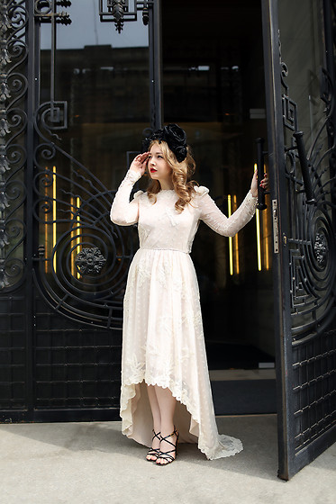 Ioa G - H&M Embroidered Dress, Chanel Sandals, Vintage Flower Headband - The Good Witch and The City
