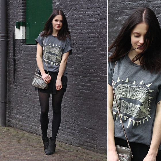 Renée Sturme - Banggood Shirt, Mango Purse, Zalando Collection Studded Boots - Festive