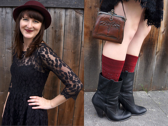 Jamie Shields - Free People Dress, Sam Edelman Boots, Free People Socks - Web of Lace