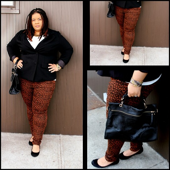 Jamila Pierre - Forever 21 Leatherette Brief Case, Forever 21 Leopard Print Pants, Forever 21 Black Blazer, Rocket Dog Black Shoes - Interview Ready!
