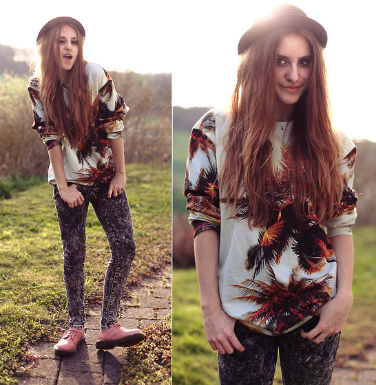 Jessica Christ - Breakingrocks Keep It Cool Sweater, Popcouture Acid Bleached Jeans, Choies Lace Up Shoes - Keep it cool :)