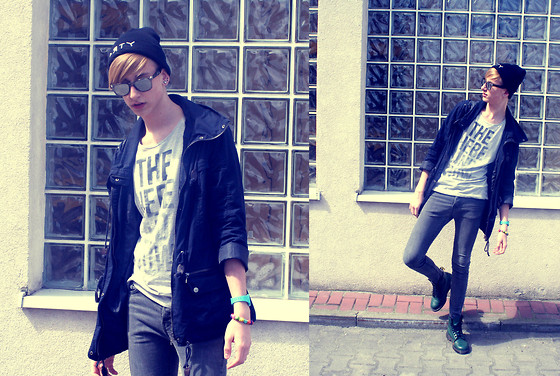 Hubert Micor - H&M Sun Glasses, Reserved Jacket, H&M Jeans, Dr. Martens Boots, H&M T Shirt - That Power.