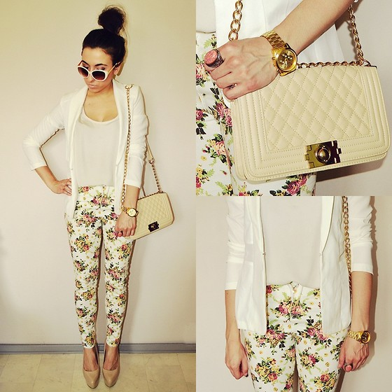Pam S - Persun Pants - White jacket