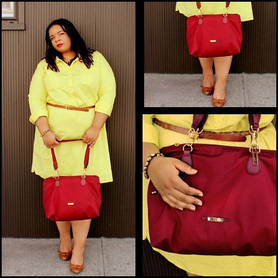 Jamila Pierre - Target Hi Liter Yellow Shirt Dress, Moschino Maroon Handbag - It's Mrs. Jackson If You're Nasty.
