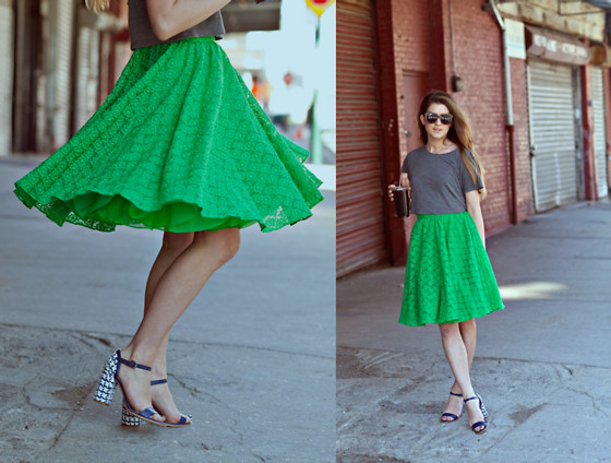 Laura Ellner - Alice + Olivia Skirt, H&M Top, Coach Shoes - TWIRL