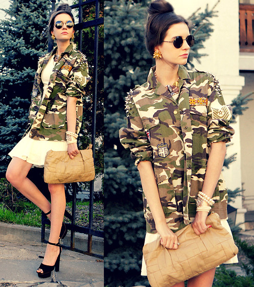 Anna Brain - Romwe Camouflage Jacket, Firmoo Sunglasses - ONE MORE PROM