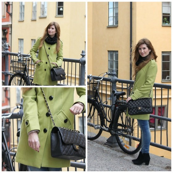 A TRENDY LIFE - Primark Coat, Chanel Bag, Suiteblanco Jeans, Zara Boots - GREEN COAT
