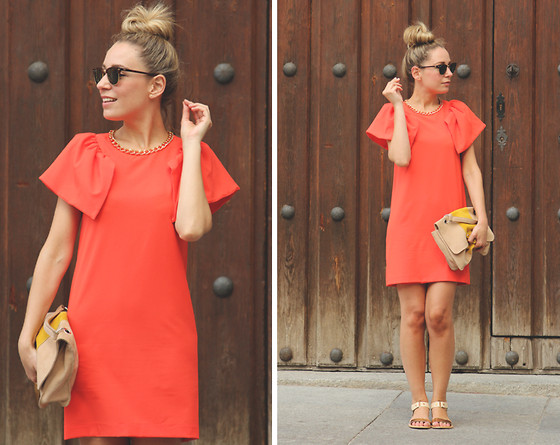 My Showroom Priscila -  - Orange Dress