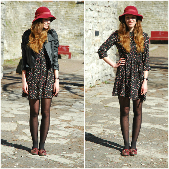 Piia Õ. - Fashion Union Shirtdress, Vintage Hat, Latinas Tasseled Loafers - Taking in the spring