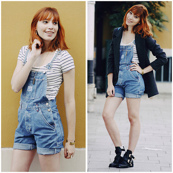 Typhaine - Vintage Overalls, New Look Crop Top, Sheinside Jacket, Choies Shoes - Habits.