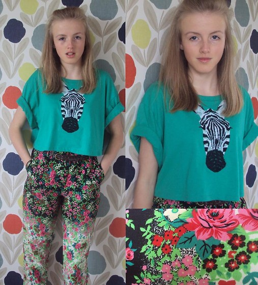 factory price really cheap meet Hazel Boxall - Topshop Zebra Top, Topshop Floral Trousers ...