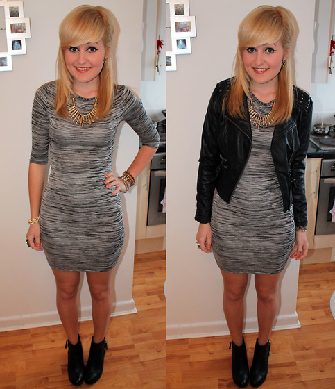 bodycon dress with ankle boots