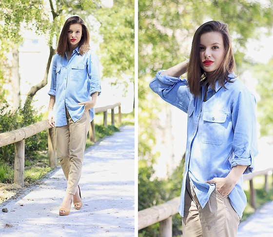 Mariana Soares Branco - Axparis Shirt, Zara Pants, Etxart&Panno Heels, Dly Inspirations Bracelets - Oh so very french