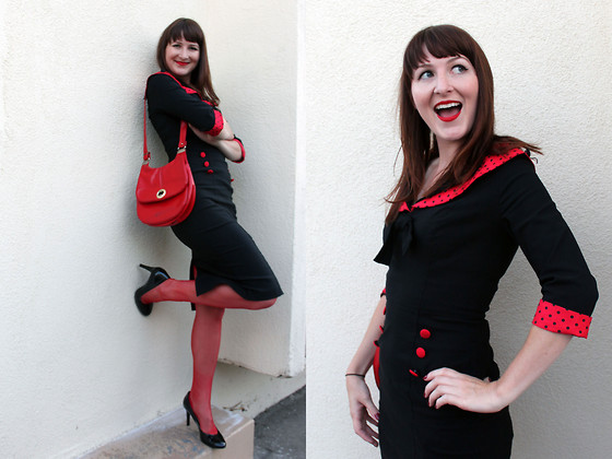 Jamie Shields - Modcloth Dress, Vintage Purse - Lady Buggin'