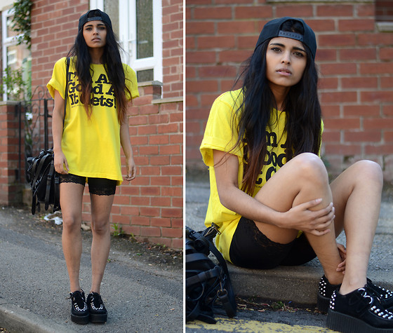 Kavita D - Carboot I'm As Good As It Gets Tee, Ebay Lace Cycling Shorts, Ebay Double Platform Stud Creepers, Alexander Wang Kirsten Tote, Boy London Snapback - I'm as good as it gets!