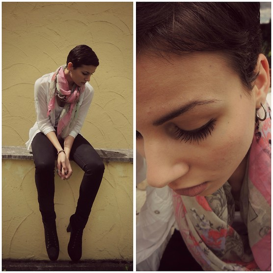 Rana Laing - Codello Scarf, Levi's® Black Jeans, Jeffrey Campbell Black Litas - Close your eyes to make the world look better