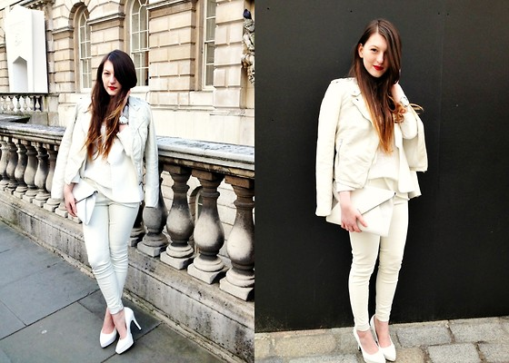 Magdalena W - H&M Jacket - All White, Everything White (LFW Day 3 Look)