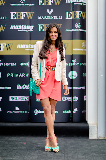 Maria Jesus Garnica - Suiteblanco Dress, Mango Blazer - Elche Bloggers Fashion Weekend